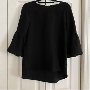 Pleione Black Bell Sleeve Top